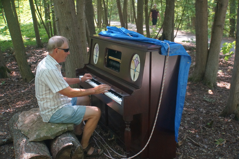 piano in the woods of Ferris park, Campbelford
